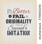 motivational quote on vintage... | Shutterstock .eps vector #578503240