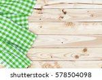 green checkered tablecloth on...   Shutterstock . vector #578504098