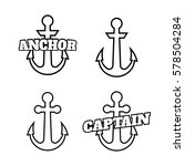 anchor icons. vector boat... | Shutterstock .eps vector #578504284
