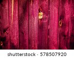 Old Vintage Burgundy Red Woode...