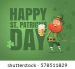 card for st. patrick's day with ... | Shutterstock .eps vector #578511829
