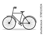 bicycle. bicycle isolated on a... | Shutterstock .eps vector #578513524