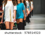 defile on fashion show  | Shutterstock . vector #578514523