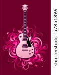 abstract with electric guitar... | Shutterstock .eps vector #57851896