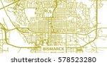 detailed vector map of bismarck ... | Shutterstock .eps vector #578523280