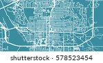 detailed vector map of bismarck ... | Shutterstock .eps vector #578523454