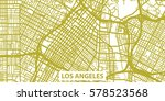 detailed vector map of los... | Shutterstock .eps vector #578523568