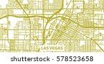 detailed vector map of las... | Shutterstock .eps vector #578523658