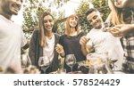 happy friends having fun...   Shutterstock . vector #578524429