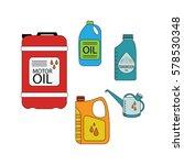 motor oil. vector set of engine ...   Shutterstock .eps vector #578530348