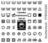 international laundry washing... | Shutterstock .eps vector #578533183
