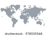 global population. world map... | Shutterstock .eps vector #578535568