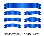 ribbon banners set. sign blank... | Shutterstock . vector #578539594
