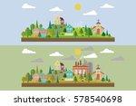 set of two illustration. eco...   Shutterstock .eps vector #578540698