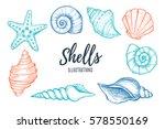 hand drawn vector illustrations ... | Shutterstock .eps vector #578550169