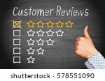 customer reviews   five stars... | Shutterstock . vector #578551090