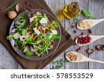 delicious vegetable salad with... | Shutterstock . vector #578553529