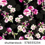 pattern with spring flowers...