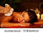 massage of woman in spa salon.... | Shutterstock . vector #578564014
