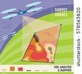 survey drones analyzes the... | Shutterstock .eps vector #578565820