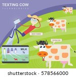 herdsman in the field. smart... | Shutterstock .eps vector #578566000