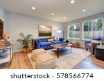 cozy light filled living space... | Shutterstock . vector #578566774