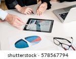 three members of a professional ... | Shutterstock . vector #578567794