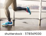 young person running over the... | Shutterstock . vector #578569030