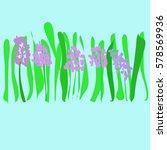 hyacinths pattern spring...   Shutterstock .eps vector #578569936