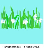snowdrops pattern spring...   Shutterstock .eps vector #578569966