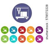 3d printer set icons in... | Shutterstock . vector #578572228
