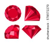 flat diamond icon | Shutterstock .eps vector #578572270
