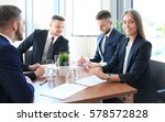business team discussing... | Shutterstock . vector #578572828