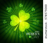 happy st.patrick's day... | Shutterstock .eps vector #578575000