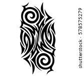 tribal pattern tattoo vector... | Shutterstock .eps vector #578575279