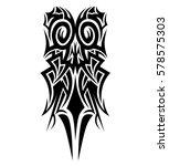 tribal tattoo vector element... | Shutterstock .eps vector #578575303