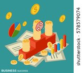 business success flat isometric ... | Shutterstock .eps vector #578579074