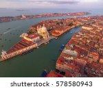 venice landmark  aerial view of ... | Shutterstock . vector #578580943