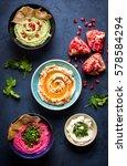 Colorful Hummus Bowls....