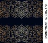 vector vintage floral... | Shutterstock .eps vector #578587570