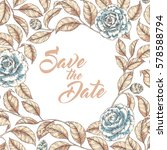 hand drawn graphic floral... | Shutterstock .eps vector #578588794