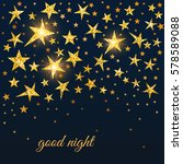 night time sky with golden... | Shutterstock .eps vector #578589088