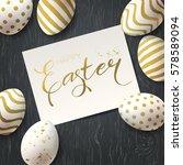 happy easter vector greetings... | Shutterstock .eps vector #578589094