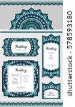 set of card or wedding... | Shutterstock .eps vector #578593180