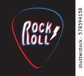 rock and roll lettering on... | Shutterstock .eps vector #578594158
