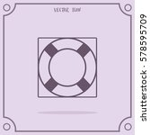 lifebuoy vector icon. | Shutterstock .eps vector #578595709