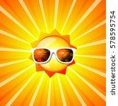 hello summer sun. vector   Shutterstock .eps vector #578595754