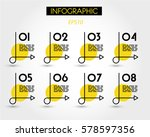yellow infographics with simple ...   Shutterstock .eps vector #578597356