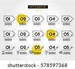 linear infographic set of... | Shutterstock .eps vector #578597368