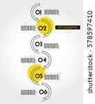 yellow linear infographic... | Shutterstock .eps vector #578597410